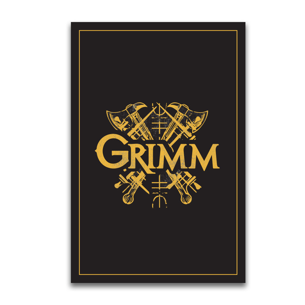 Black and Gold Grimm Coat of Arms Poster