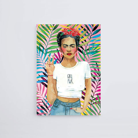 Frida Kahlo GRL PWR Postcard - Good Co.