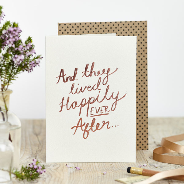 Happily Ever After Foil Card - Good Co.