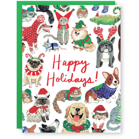 Happy Holidays Dog Card - Good Co.