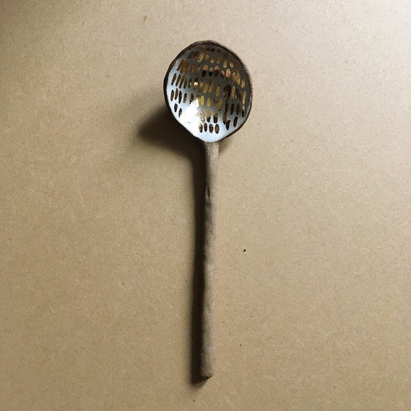 Stoneware Spoon + Gold - Good Co.