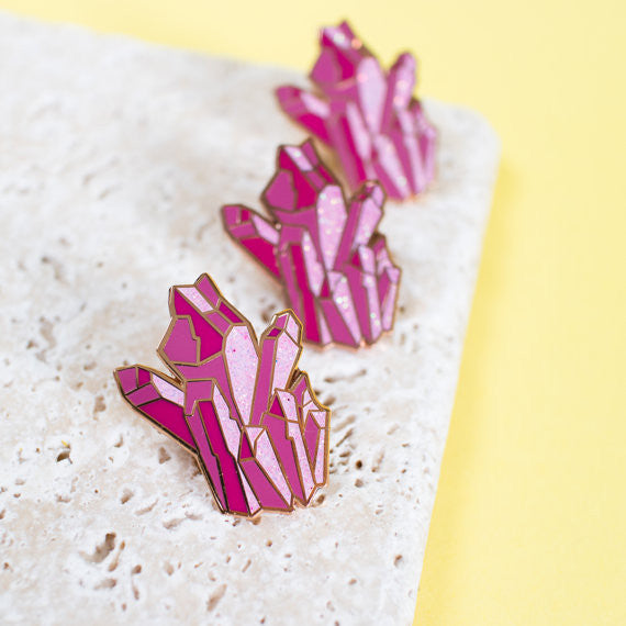 Pink Crystals Pin - Good Co.