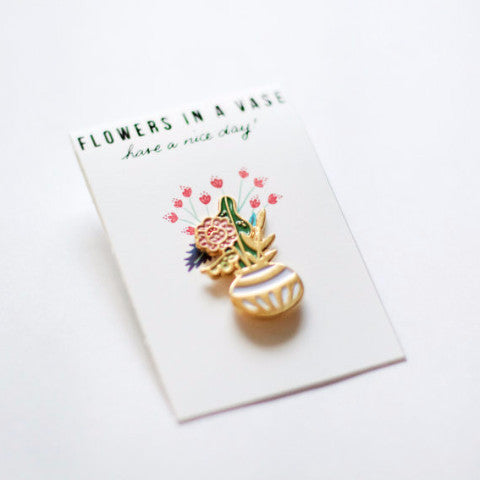 Flowers in a Vase Pin - Good Co.