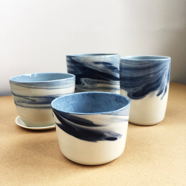 Marbled Blue Planter - Good Co.