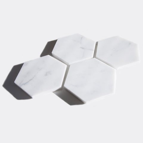 Marble Hexagonal Coasters - Good Co.