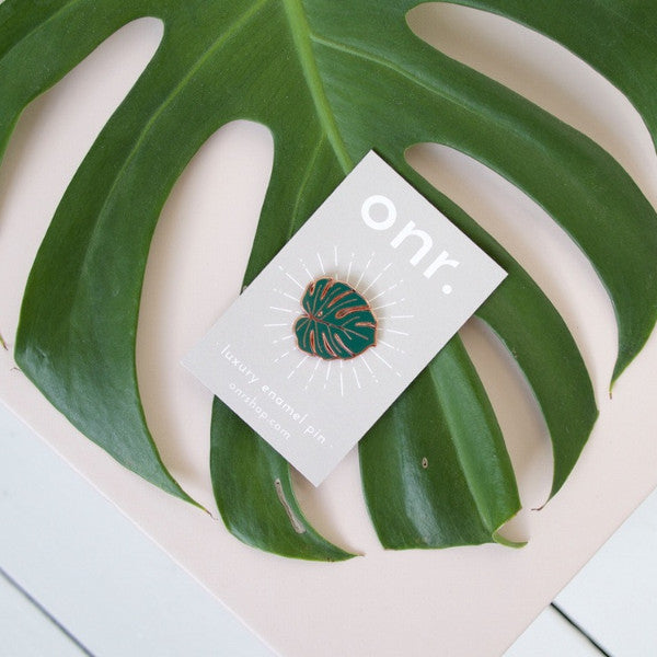 Monstera Leaf Pin - Good Co.