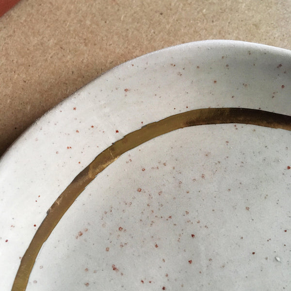 Speckled Gray + Gold Circle Jewellery Dish - Good Co.