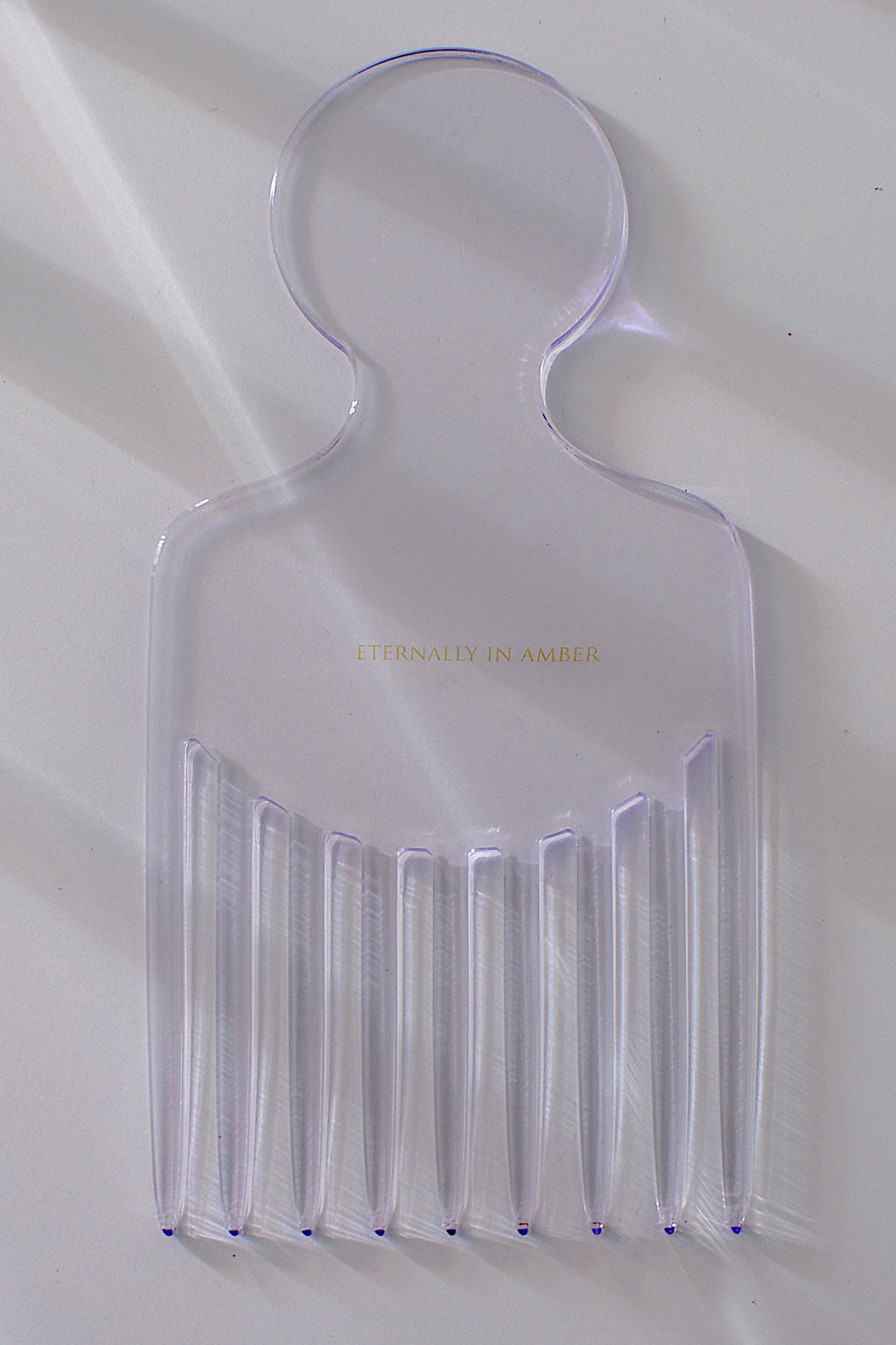 Casa Cuadra Objects Eternally In Amber Luxe Hair Pick - Clear Acrylic