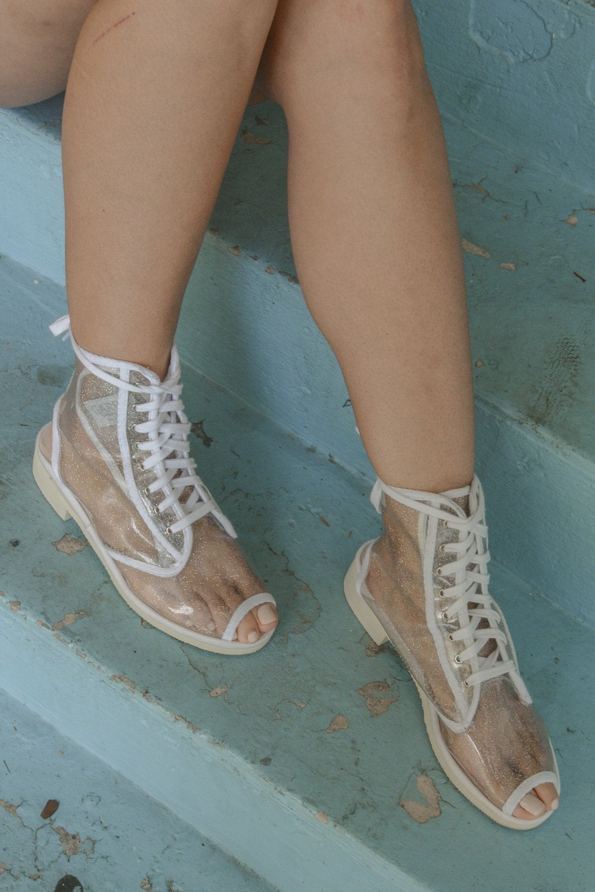 Lucie Boot - Transparent/Multi Sparkles