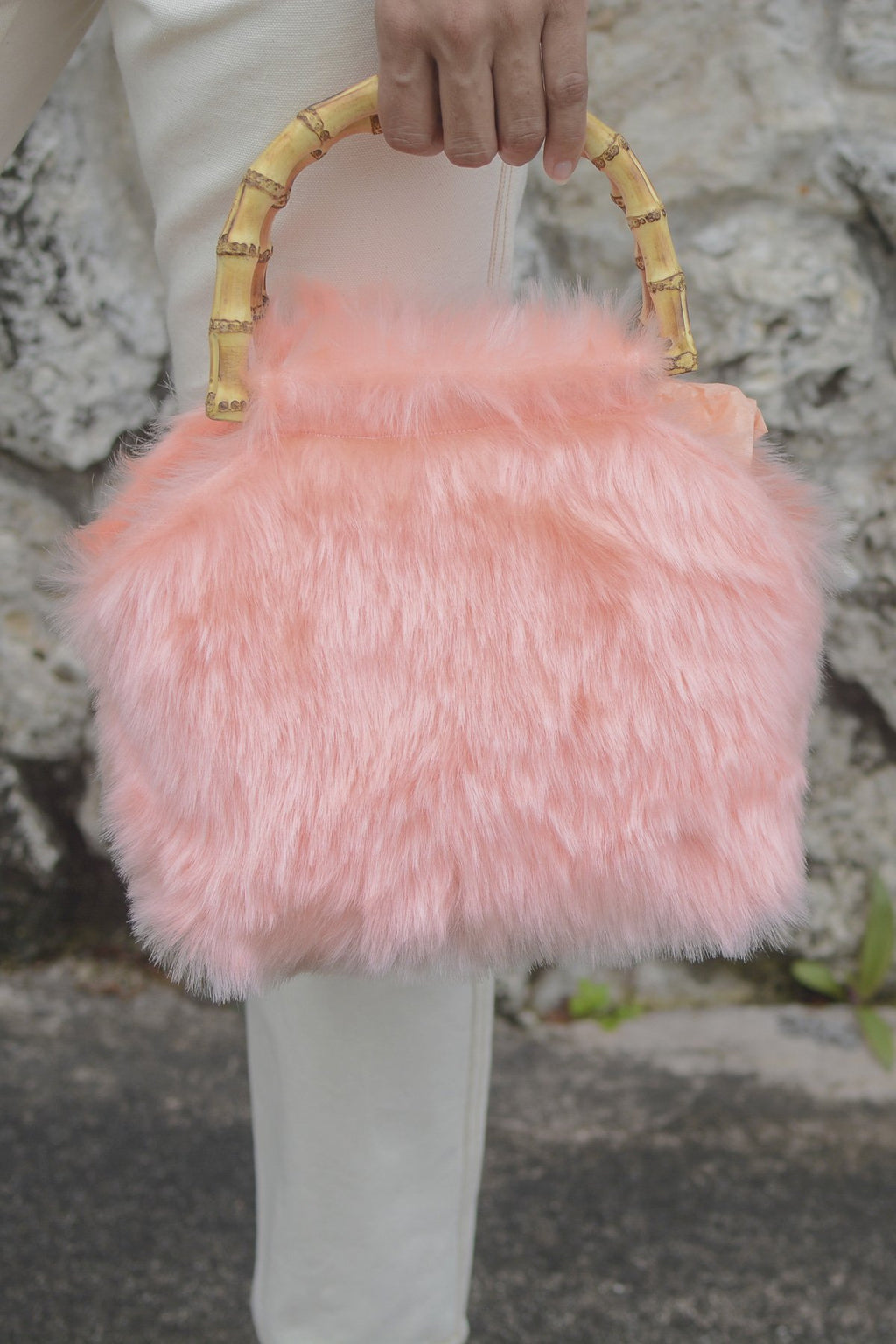 Casa Cuadra Accessories Bags Lykke Wullf Faux Fur Bag - Pink