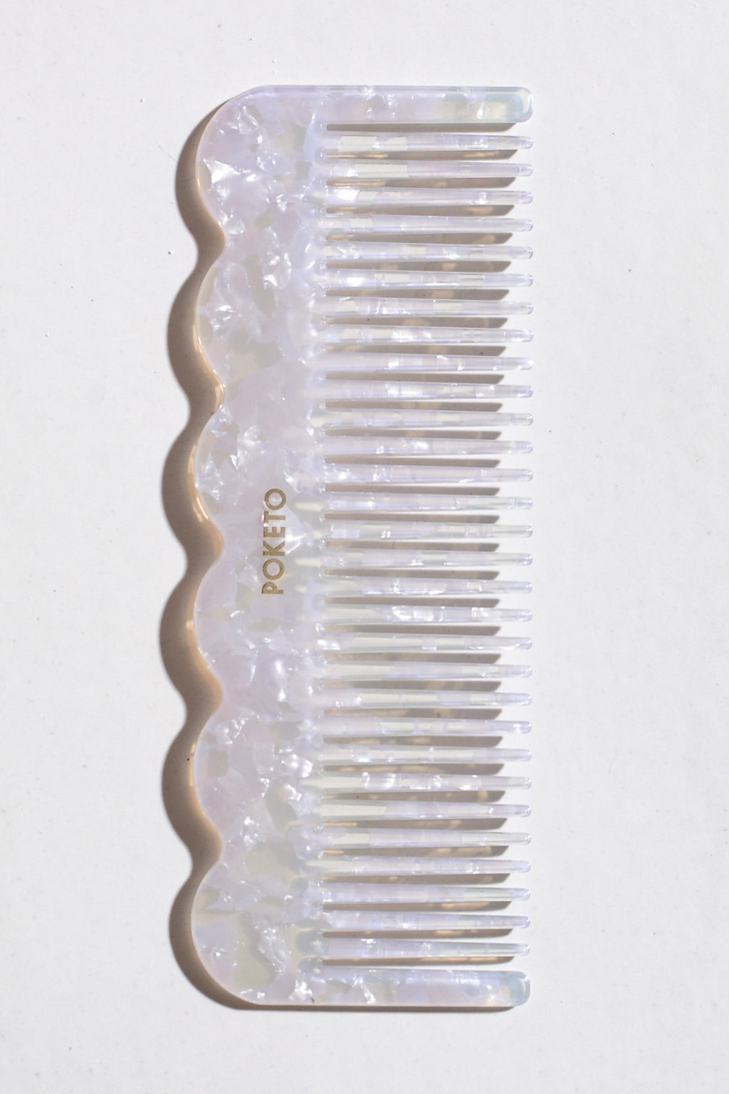 Casa Cuadra Objects Poketo Wave Comb - Pearlescent