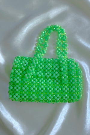 Casa Cuadra Vintage Accessories Handmade Green Beaded Handbag
