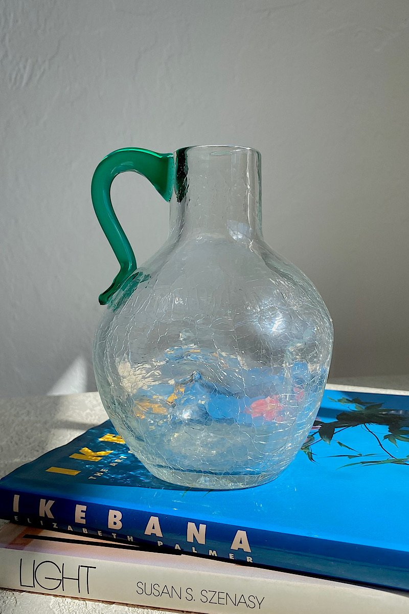 Casa Cuadra Vintage Petite Crackle Glass Pitcher