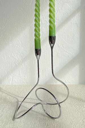 Silver Loop Candle Holder