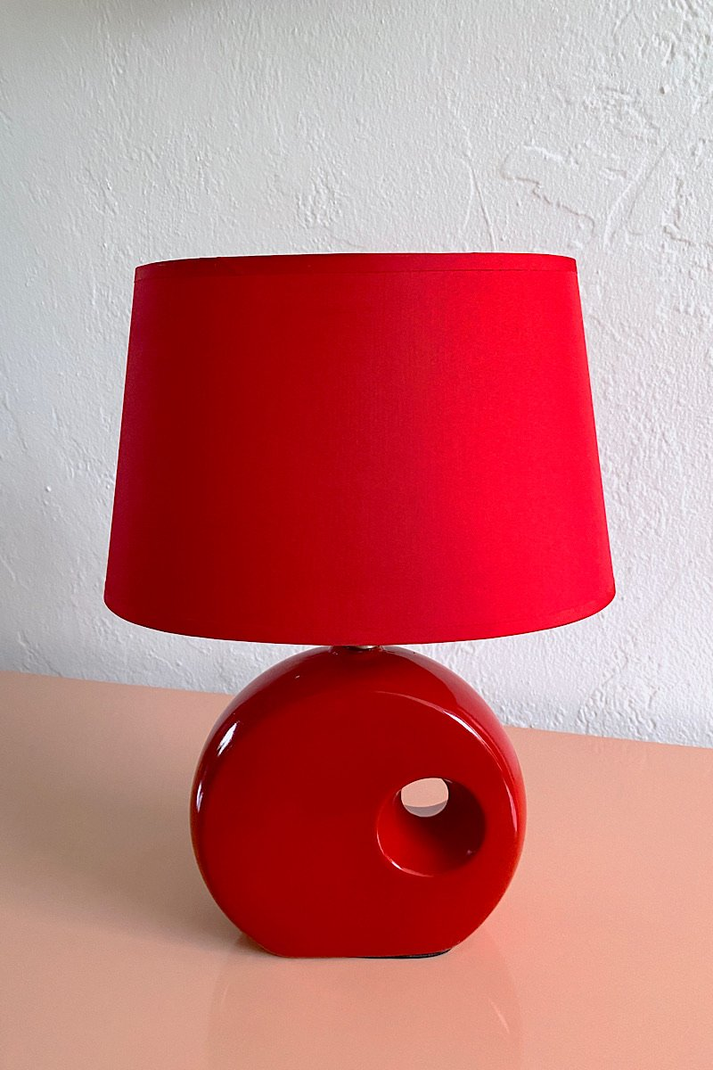 Casa Cuadra Vintage Small Red Donut Lamp