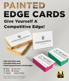 Color Splash Painted Edge Business Cards