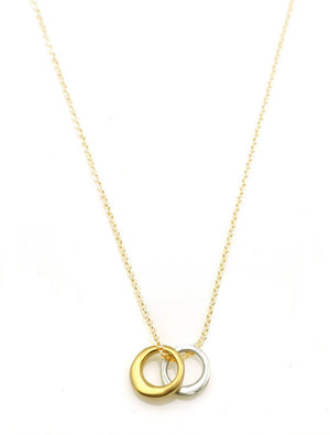 2 Circles Silver Vermeil Necklace