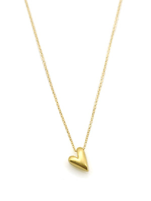 Tiny Heart Vermeil Necklace