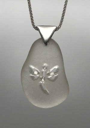 White Dragonfly Necklace