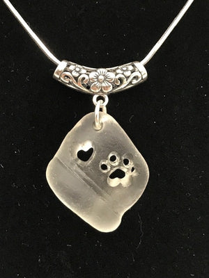 White Puppy Love Necklace