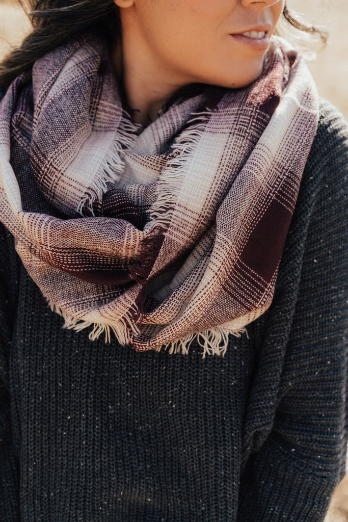 """Beverly"" Plaid Scarf"