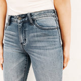 """Andie"" Crop Flare Jeans, Medium Wash"