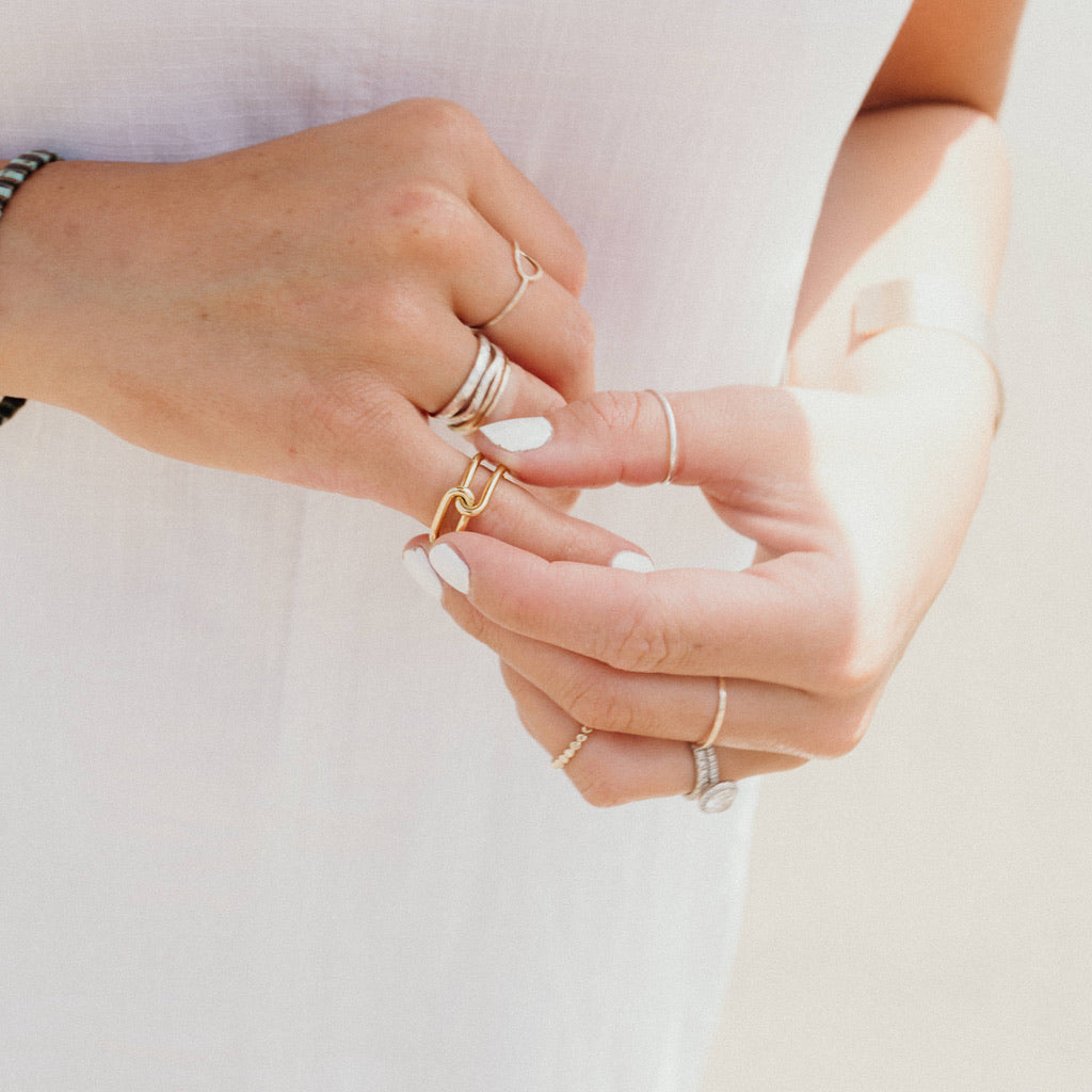 """Rosalie"" Double Knot Ring, Gold"