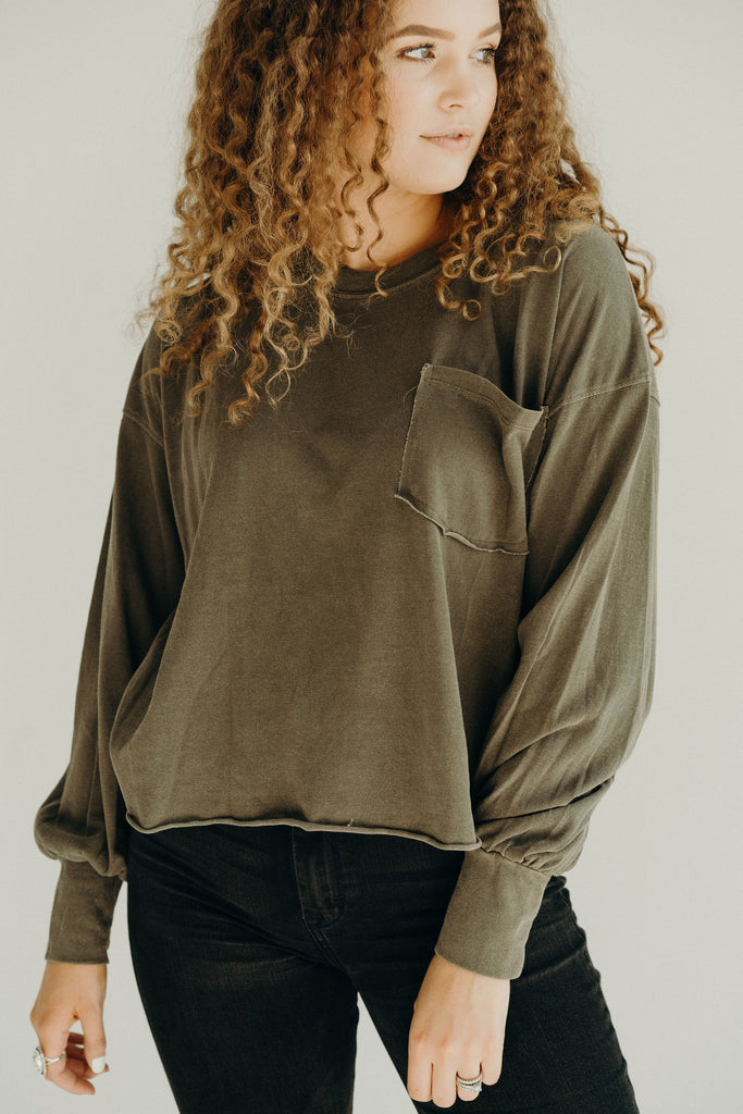 """Coast"" Relaxed Pullover, Olive"