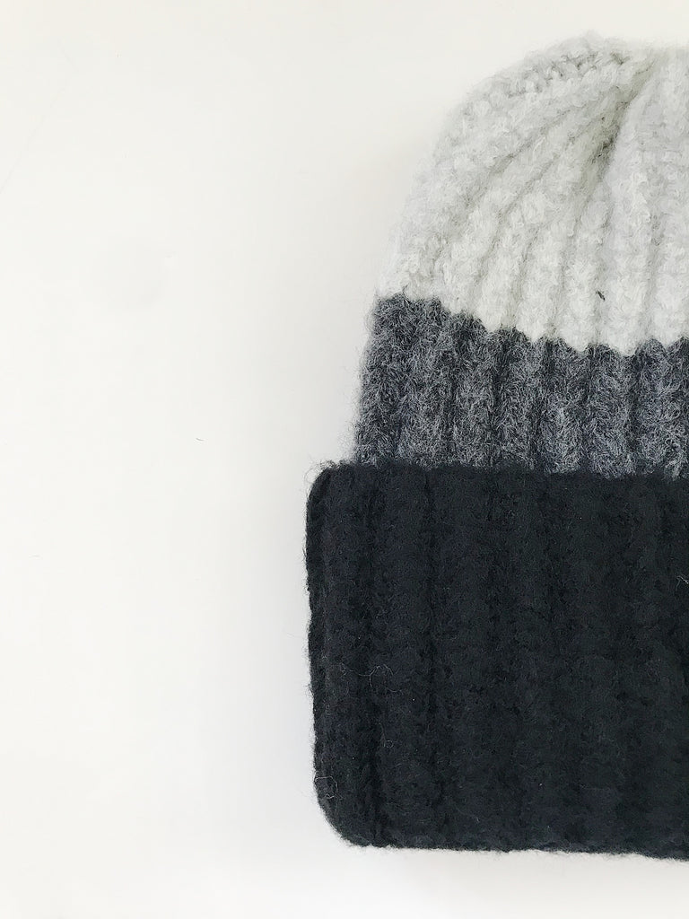 """Cooper"" Beanie, Black and Grey"