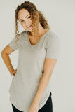 CJ's Favorite V-Neck Tee, Heather Grey