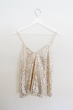 Cleo Sequin Top, Champagne