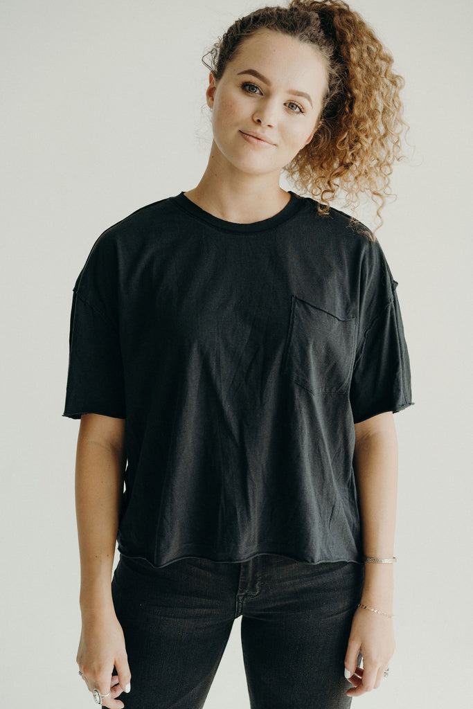 Bailey Relaxed Tee, Vintage Black
