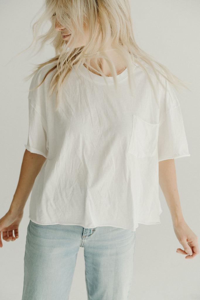 Bailey Relaxed Tee, White