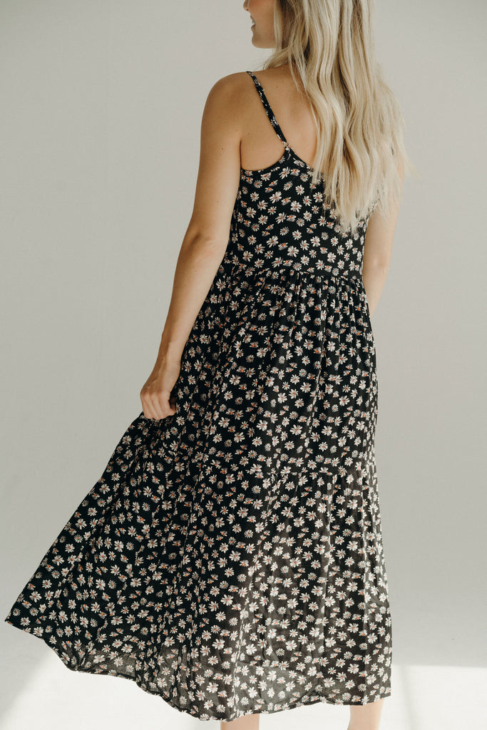 Willow Floral Maxi Dress, Grey