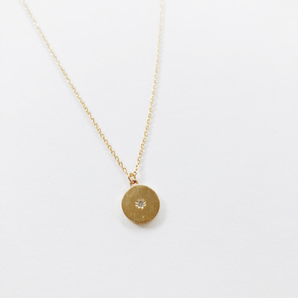 """Starry"" Circle Necklace"
