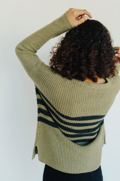 """Sadie"" Crew Neck Sweater, Sage"