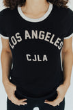 """Los Angeles"" CJLA graphic, Black"