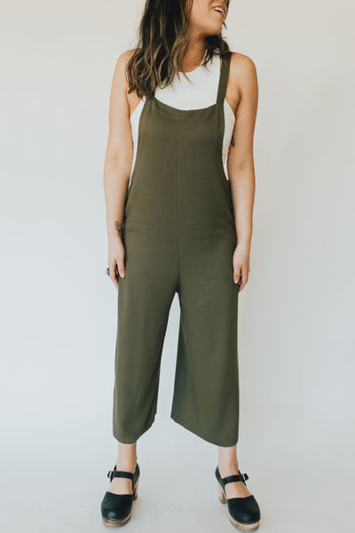 """Berkeley"" Jumpsuit, Olive"