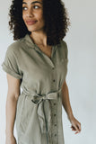 """Magnolia"" Short Sleeve Dress, Olive"