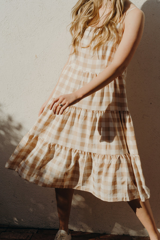 Clementine Dress, Blush Taupe