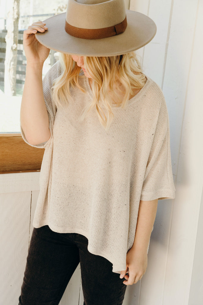Erin Sweater Tee, Oatmeal