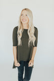 CJ's Favorite Half Sleeve Tunic, Olive