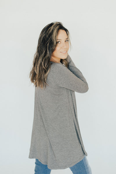 CJ's Favorite Swing Tunic, Charcoal Grey