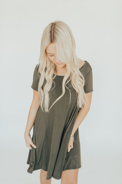 CJ's Favorite Swing Dress, Olive
