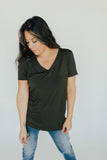 CJ's Favorite V-Neck Tee, Olive