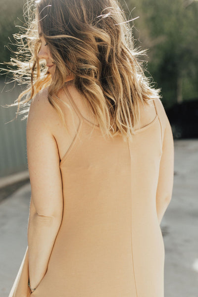 """Stella"" Spaghetti Strap Dress, Terra Cotta"