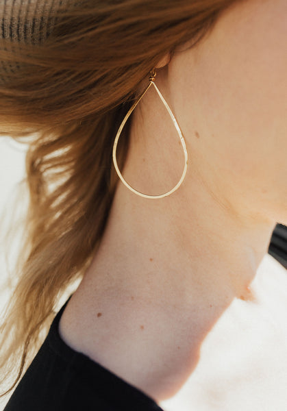 """Roe"" Dangle Earrings, Gold"