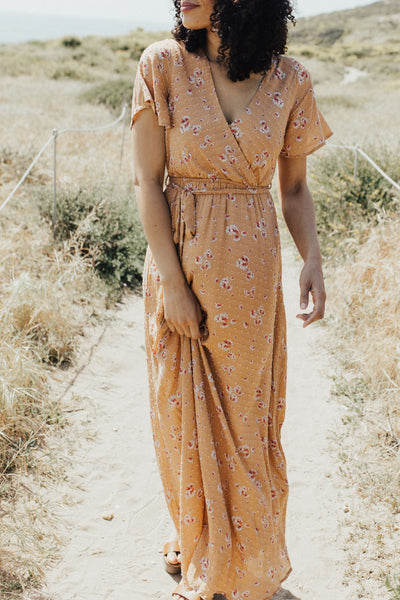 """Lille"" Maxi Dress, Ginger Floral"