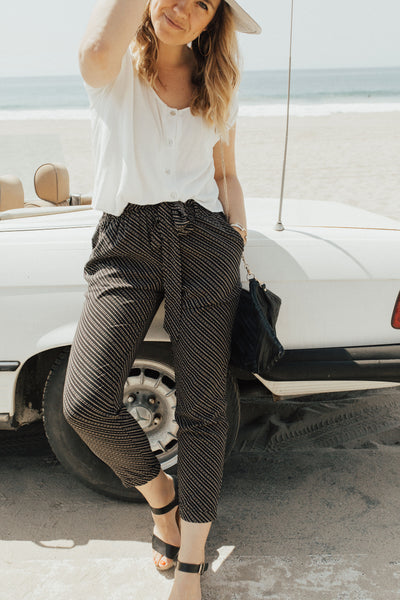 """Vanessa"" Pants, Black and Ivory"
