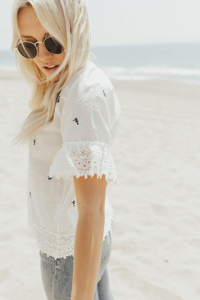 """Mayer"" Blouse, White"
